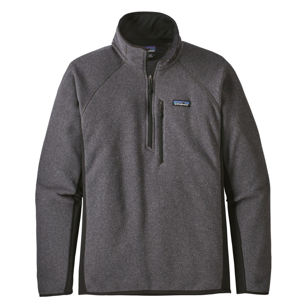 Patagonia Performance Better Sweater Quarter Zip Mens Forge Grey/Black