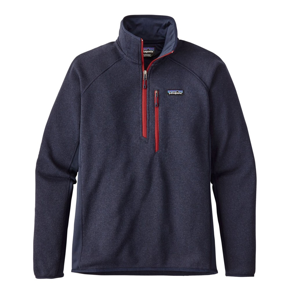 Patagonia Performance Better Sweater Quarter Zip Mens Navy Blue