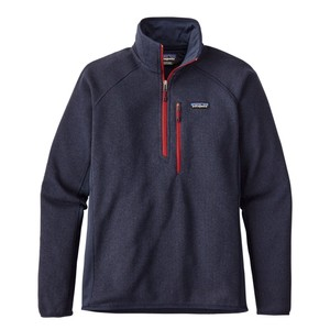 Patagonia Performance Better Sweater Quarter Zip Mens in Navy Blue