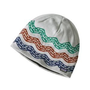 Patagonia Beanie Hat in River Current:Birch White