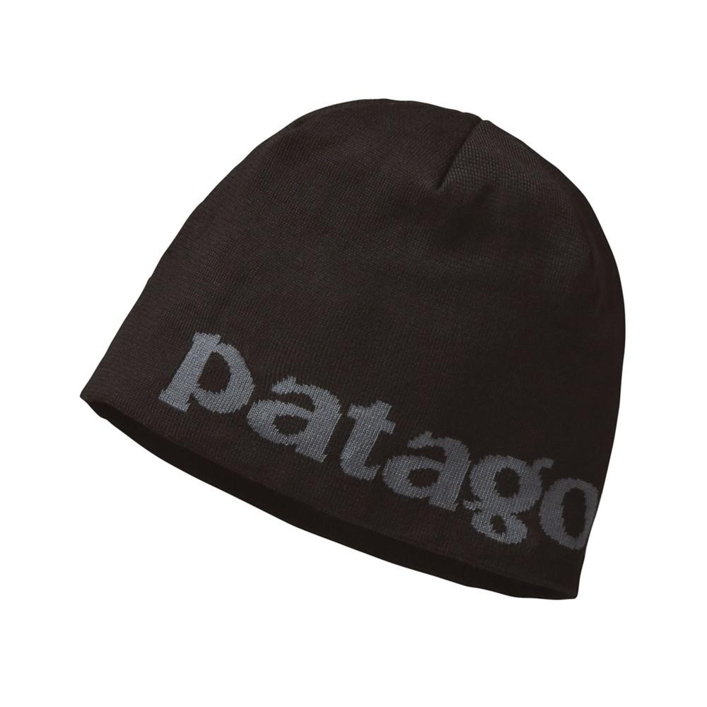 Patagonia Beanie Hat Logo Belwe:Black