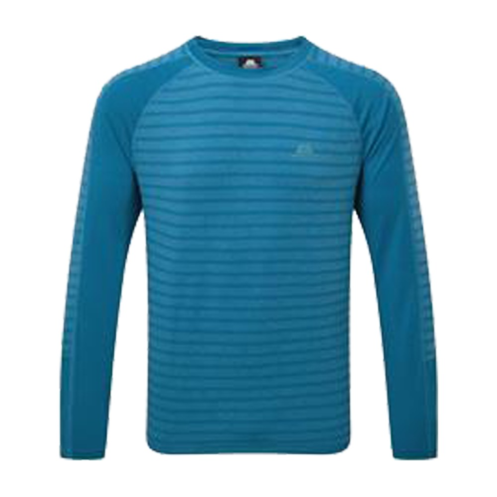 Mountain Equipment Redline LS Tee Mens Alto Blue Stripe