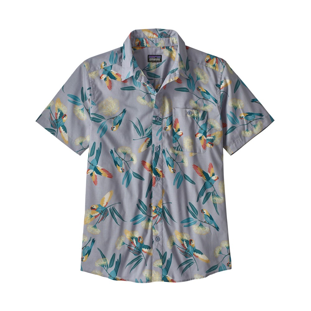 Patagonia Go To Shirt Mens Parrots:Ghost Purple
