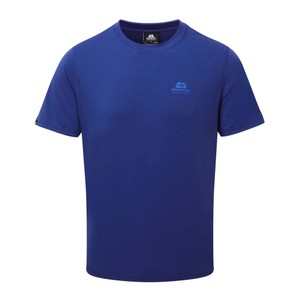 Mountain Equipment Groundup Tee Mens in Sodalite Blue