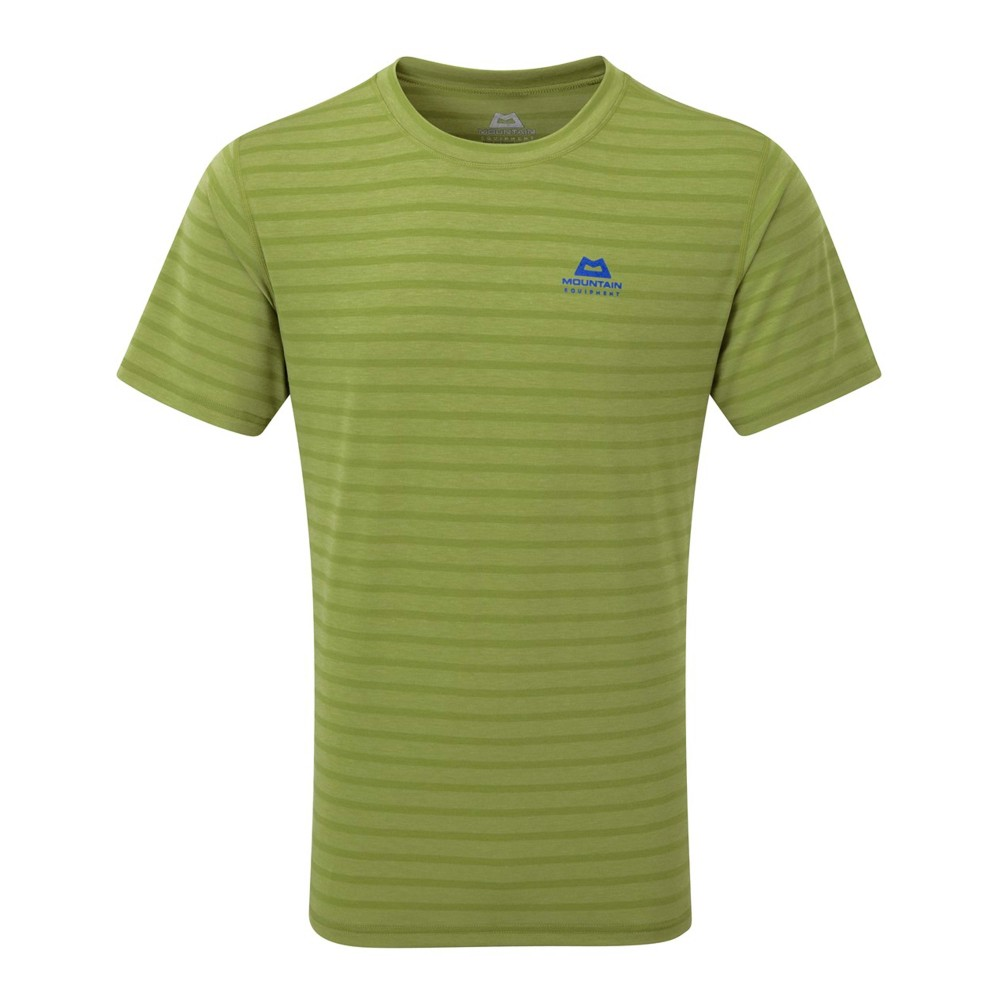 Mountain Equipment Groundup Tee Mens Kiwi Stripe