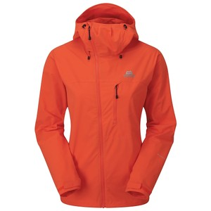 Mountain Equipment Squall Hooded Jacket Womens in Kumquat