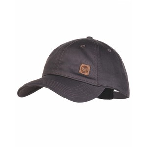 Buff Baseball Cap in Solid Pewter Grey