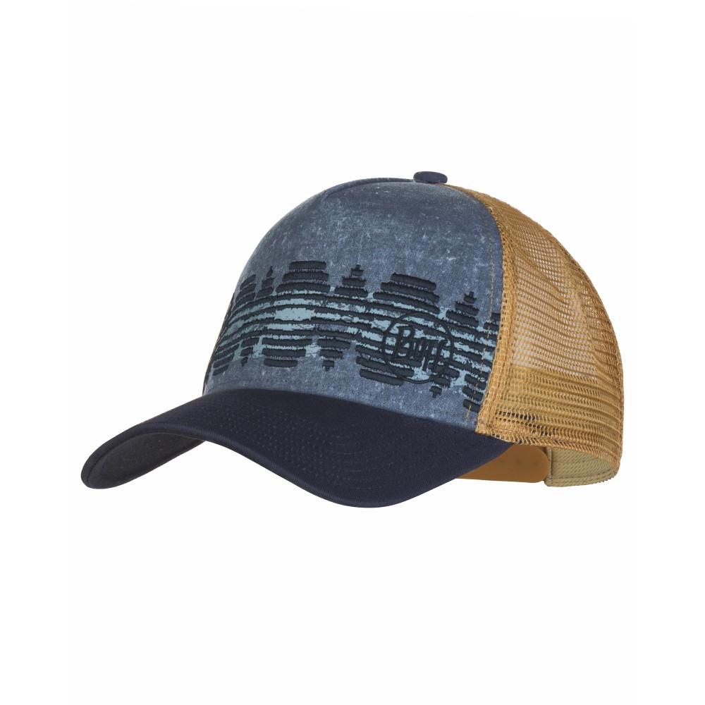 Buff Trucker Cap Tzom Stone Blue