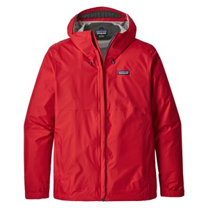 Patagonia Torrentshell Jacket Mens in Fire/Big Sur Blue