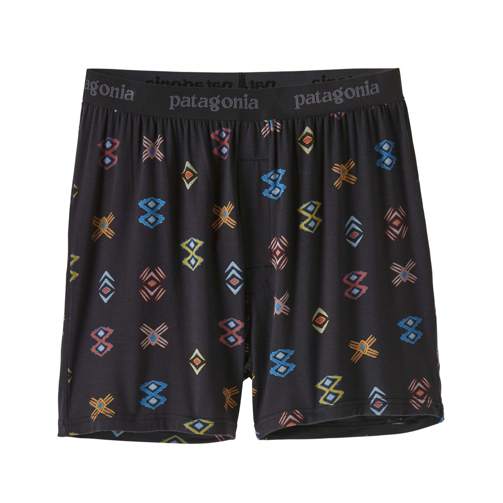 Patagonia Essential Boxers Mens Space Spirits:Ink Black