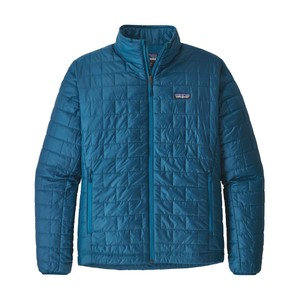 Patagonia Nano Puff Jacket Mens in Big Sur Blue/Balkan Blue