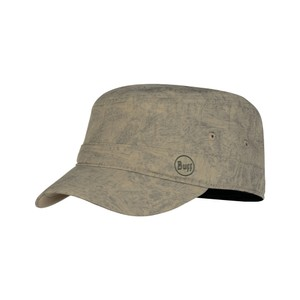 Buff Military Cap in Zinc Taupe Brown