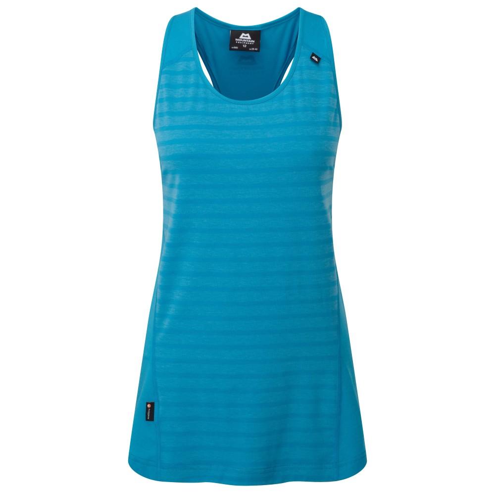 Mountain Equipment Groundup Vest Womens Denim Blue Stripe
