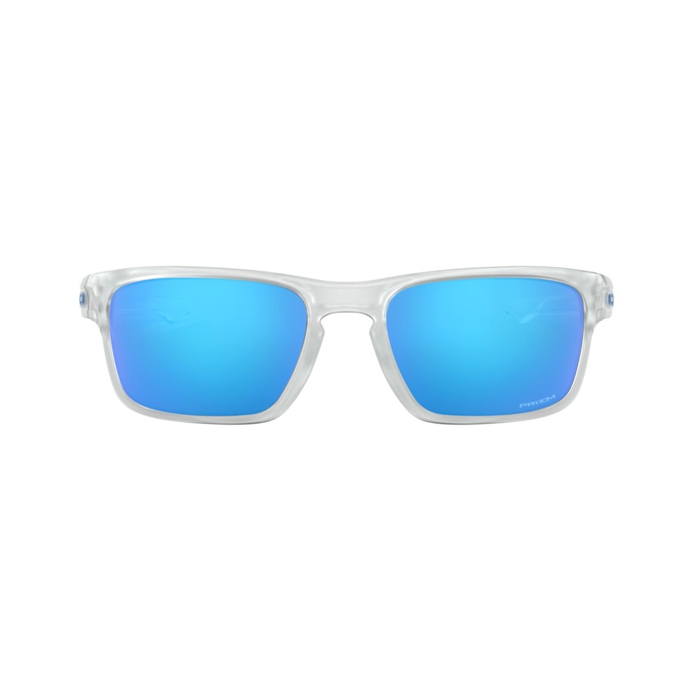 Oakley Sliver Stealth Sunglasses Matte Clear with Prizm Sapphire Lens