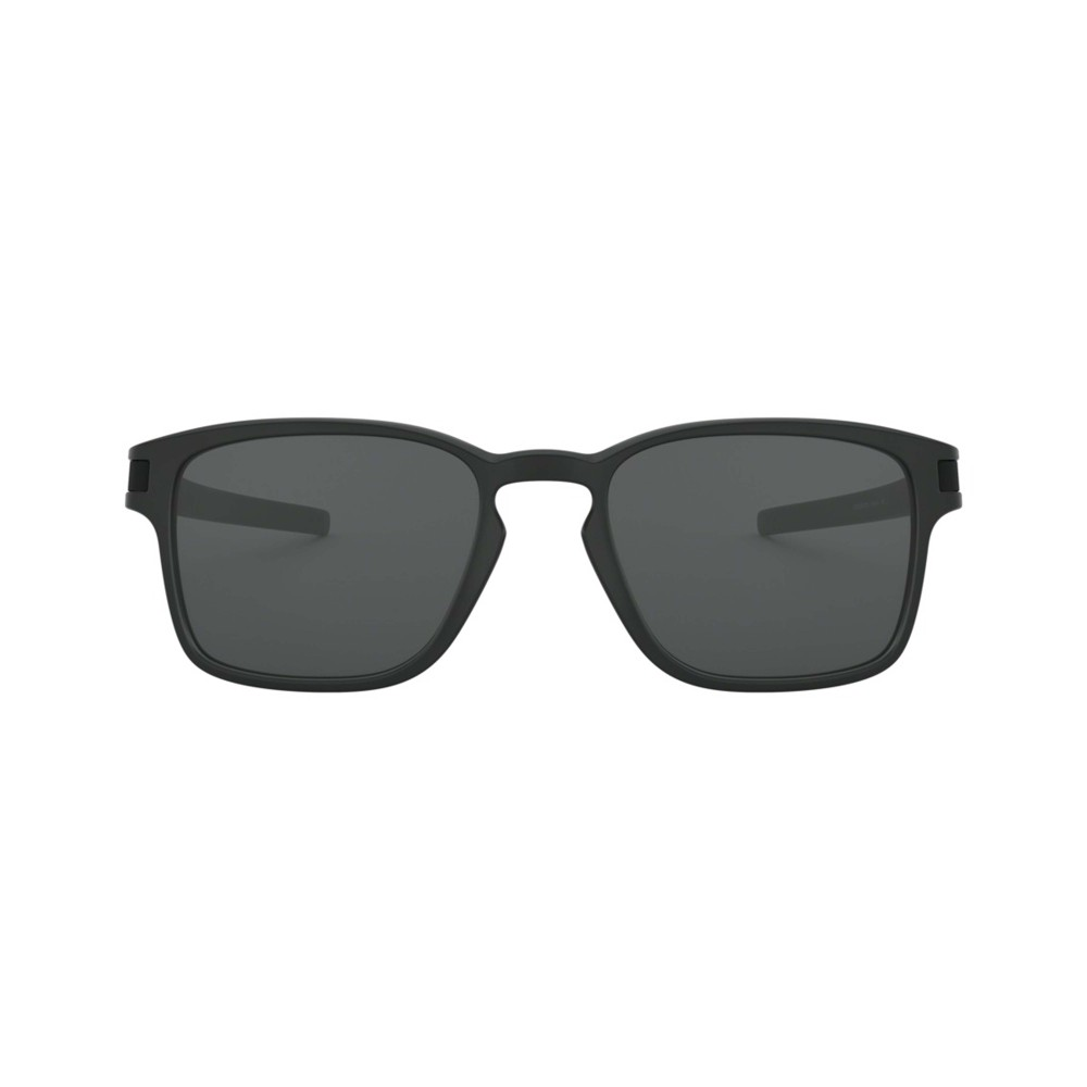 Oakley Latch Square Sunglasses Matte Black with Grey Lens