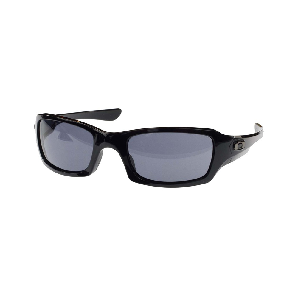 Oakley Fives Squared Sunglasses Polished Black with Grey Lens