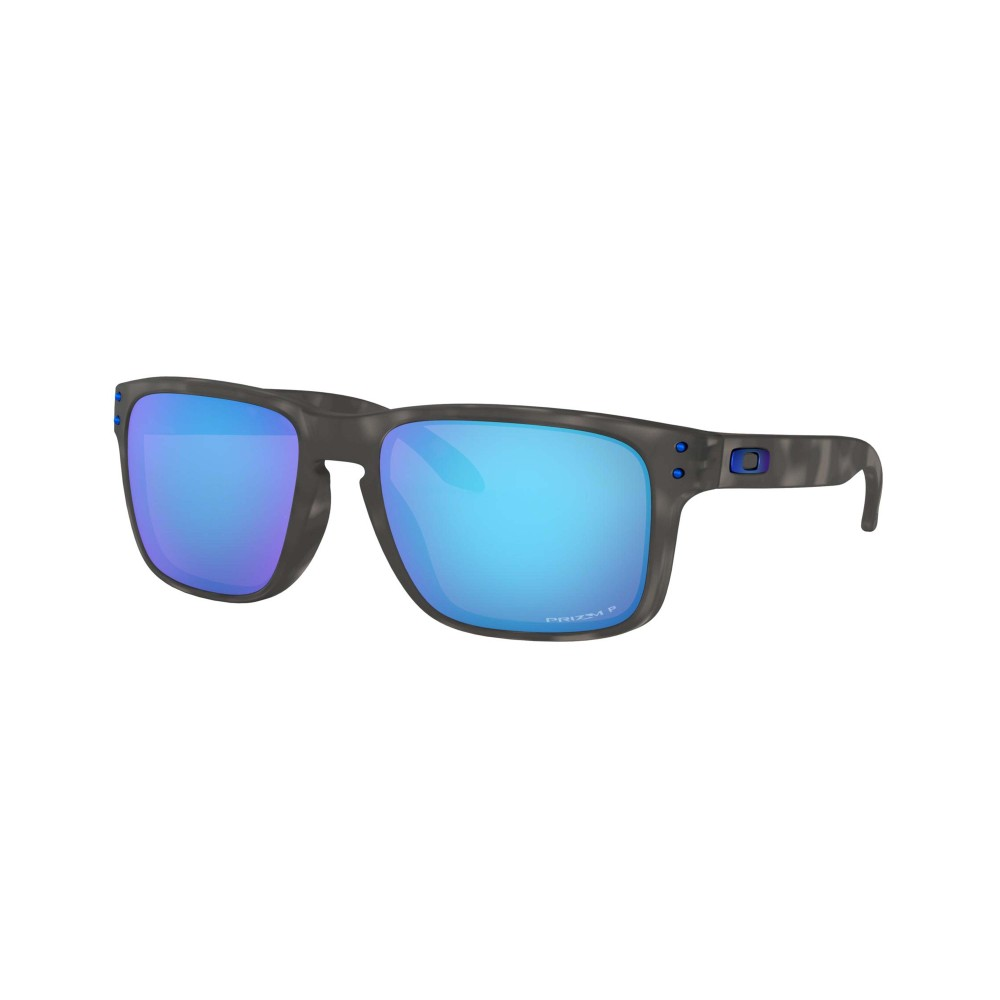 Oakley Holbrook Matte Black Tortoise with Prizm Sapphire Polarized Lens