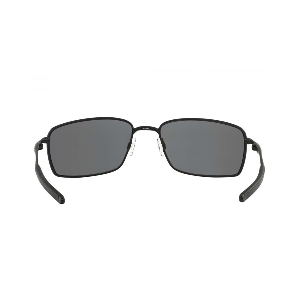 Oakley Square Wire Sunglasses Carbon with Grey Polarized Lens