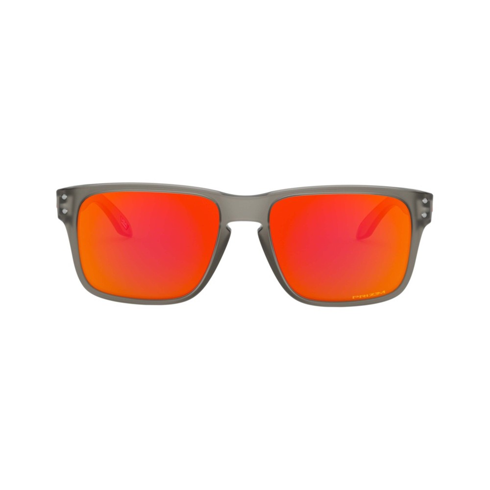 Oakley Holbrook XS Sunglasses Matte Grey Ink with Prizm Ruby Lens