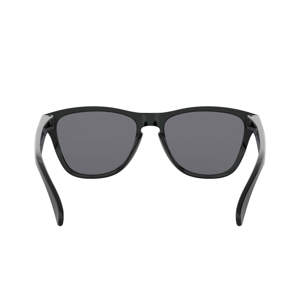 Oakley Frogskins XS Sunglasses Polished Black with Grey Lens
