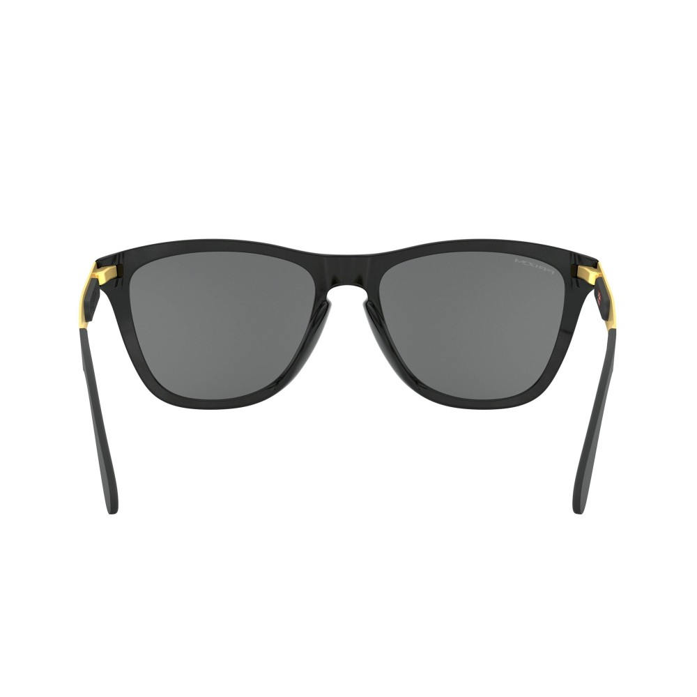 Oakley Frogskins Mix Sunglasses Polished Black Gold with Prizm Black Lens