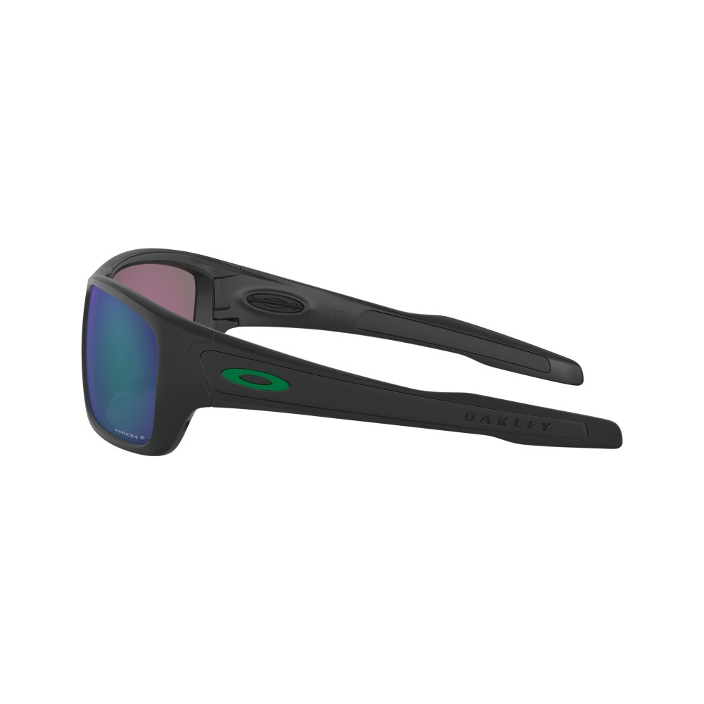 Oakley Turbine Sunglasses Matte Black with Prizm Jade Polarized Lens