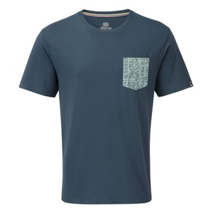 Sherpa Durbar Pocket Tee Mens in Neelo Blue