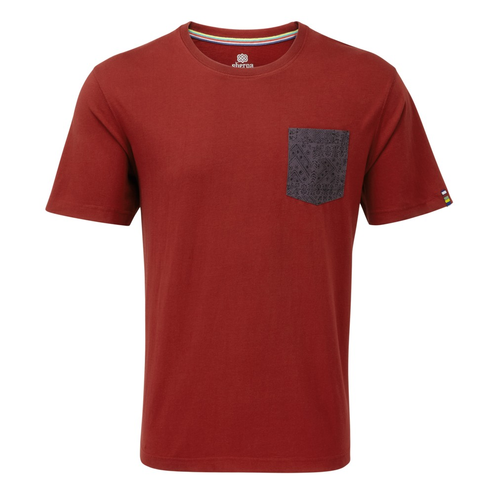 Sherpa Durbar Pocket Tee Mens Potala Red