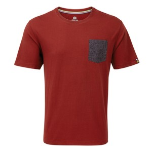 Sherpa Durbar Pocket Tee Mens in Potala Red