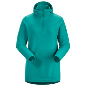 Rho LT Hooded Zip Neck Womens Illusion