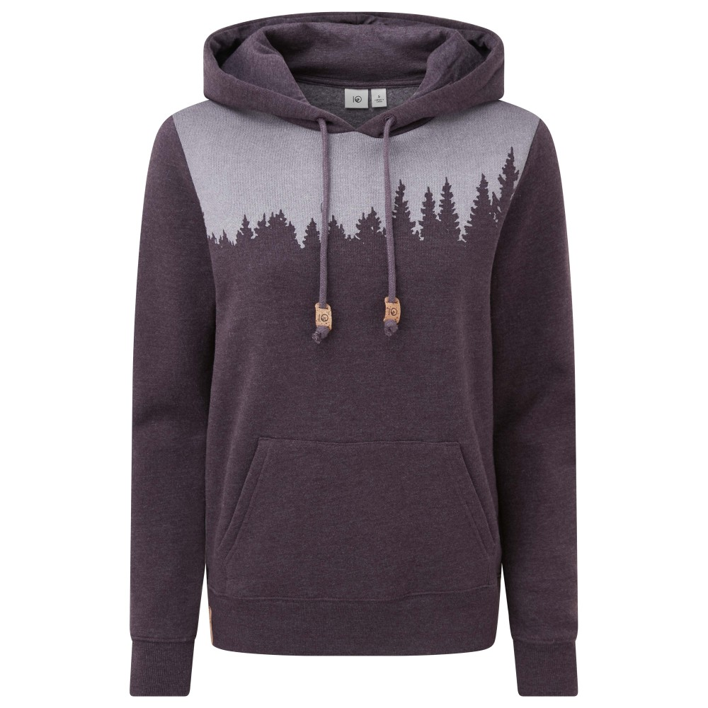 tentree Juniper Hoodie Womens Aubergine Purple Heather