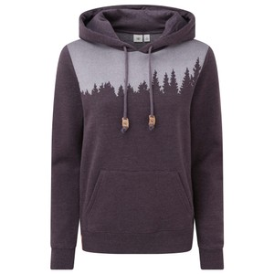 tentree Juniper Hoodie Womens in Aubergine Purple Heather
