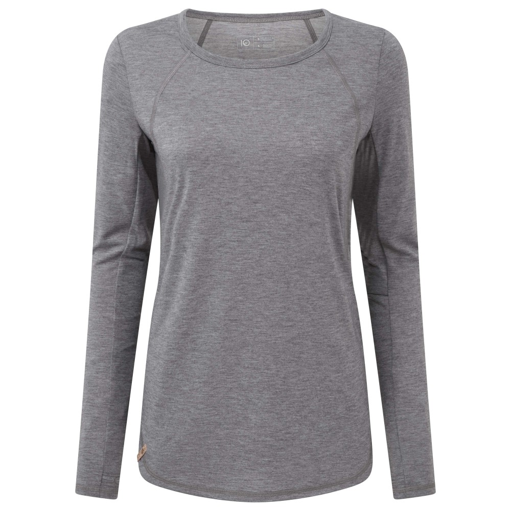 tentree Destination LS Womens Hi Rise Grey