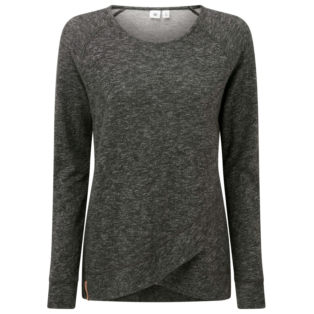 tentree Acre LS Womens Meteorite Black Marled