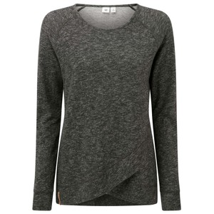 tentree Acre LS Womens in Meteorite Black Marled