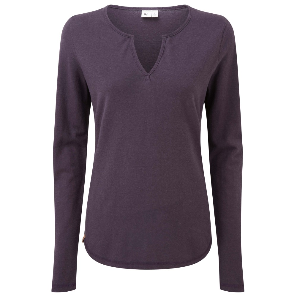 tentree Moraine LS Top Womens Aubergine Purple
