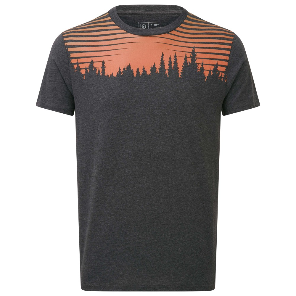 tentree Sunset Juniper SS Tee Mens Meteorite Black Heather