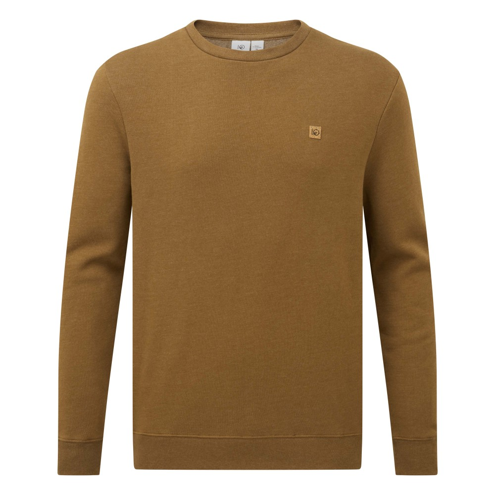 tentree Standard LS Crew Mens Rubber Brown Heather