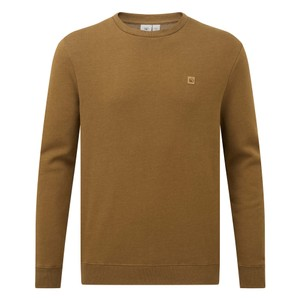 tentree Classic Crew Mens in Rubber Brown Heather