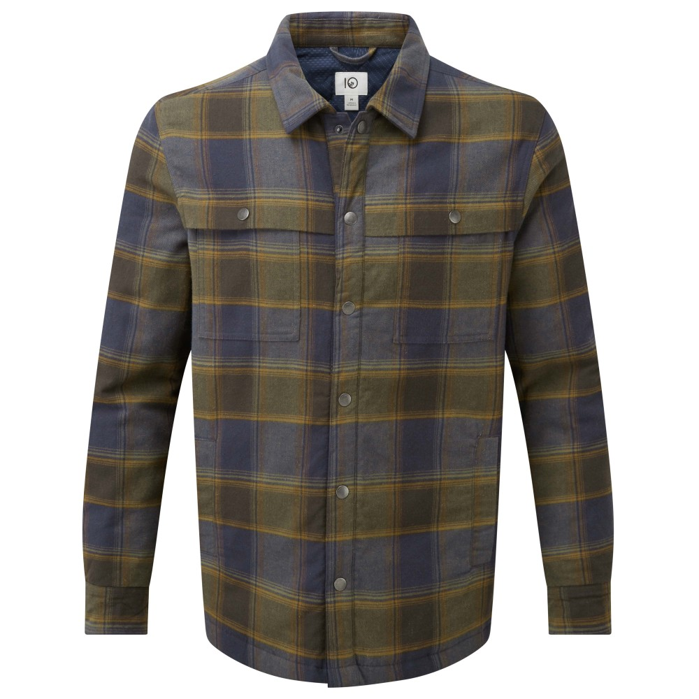 tentree Nordmann Shacket Mens Bowren Plaid Moss
