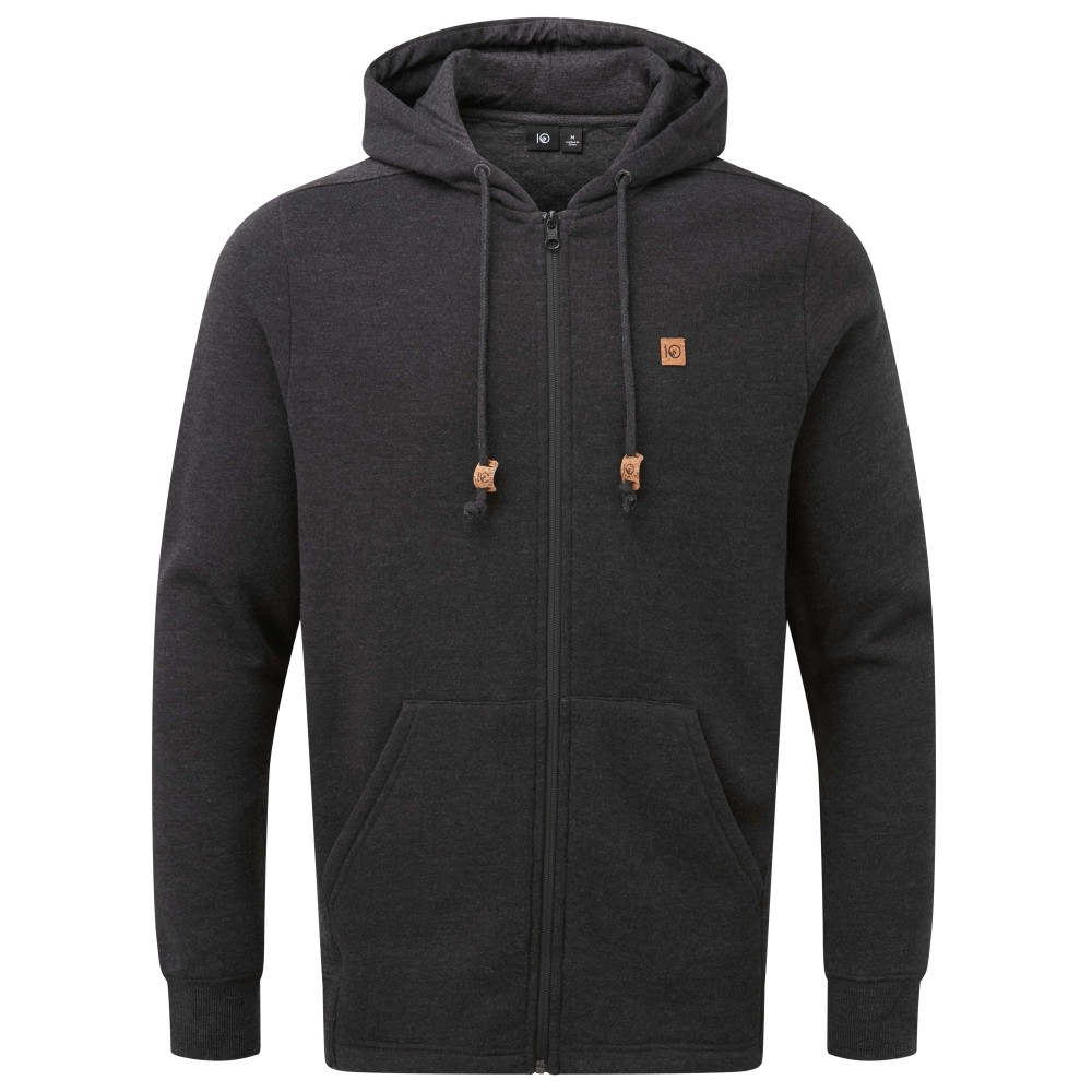 tentree Osier Hoodie Mens Meteorite Black Heather