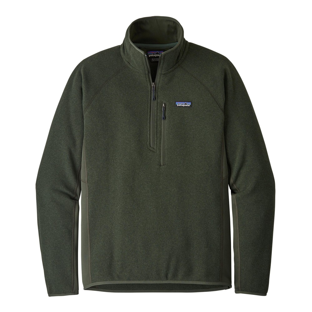 Patagonia Performance Better Sweater Quarter Zip Mens Alder Green
