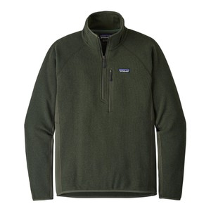 Patagonia Performance Better Sweater Quarter Zip Mens in Alder Green