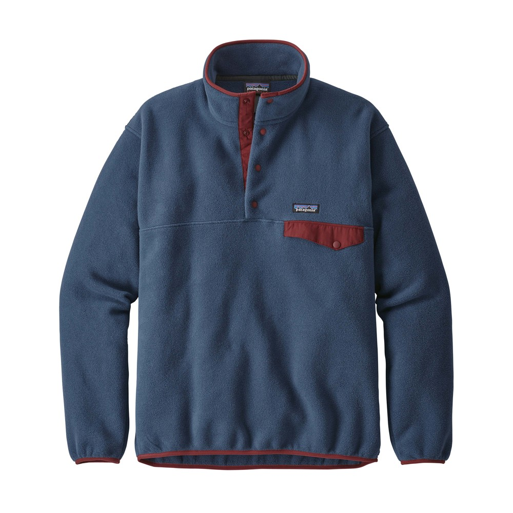 Patagonia LW Synchilla Snap-T Pullover Mens STONE BLUE