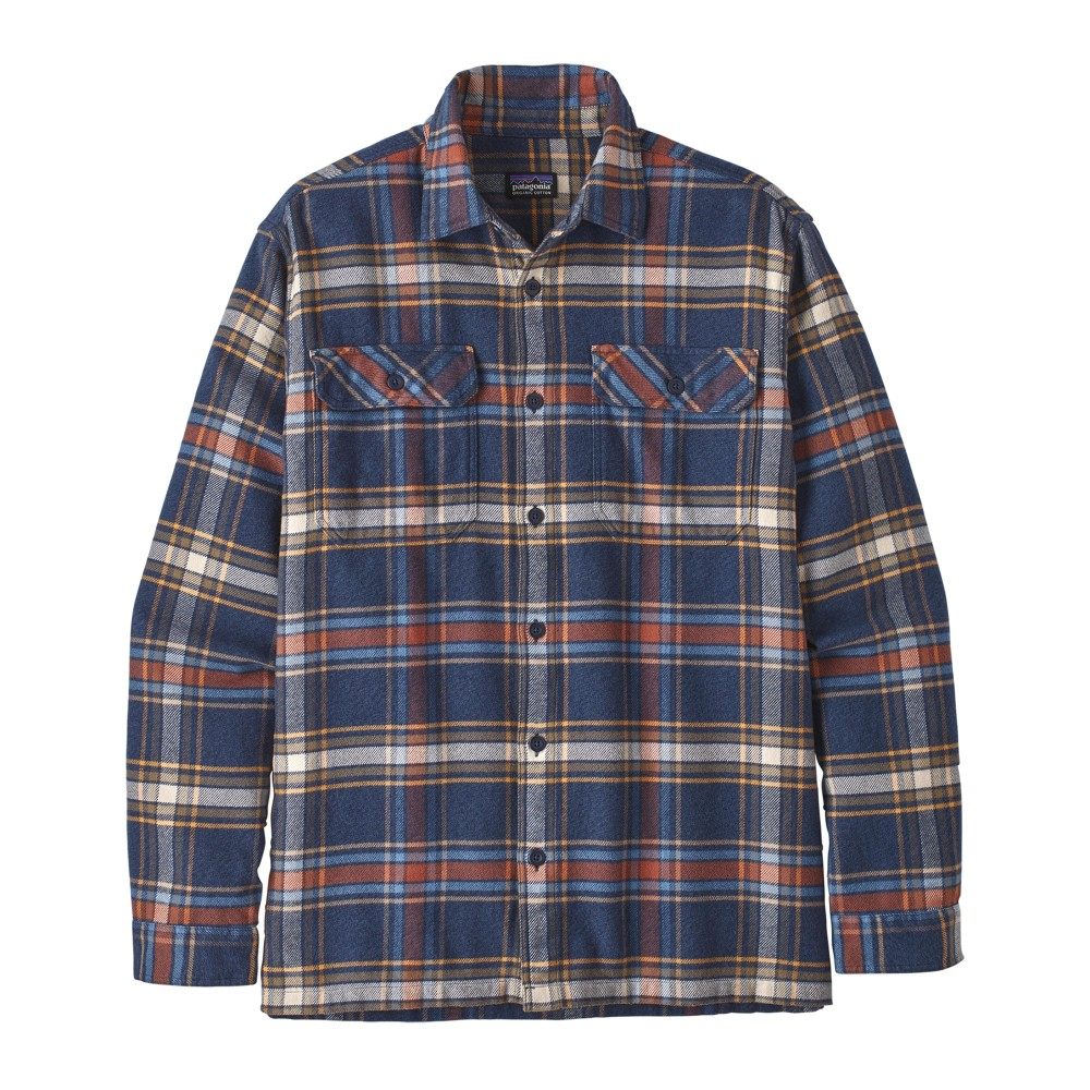 Patagonia LS Fjord Flannel Shirt Mens Defender:Neo Navy