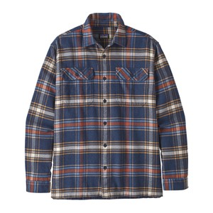 Patagonia LS Fjord Flannel Shirt Mens in Defender:Neo Navy