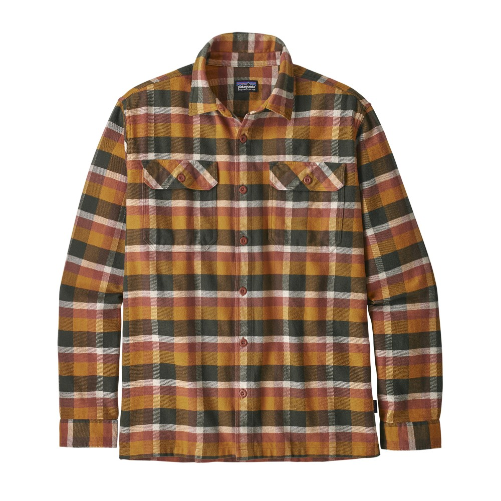 Patagonia LS Fjord Flannel Shirt Mens Observer:Wren Gold