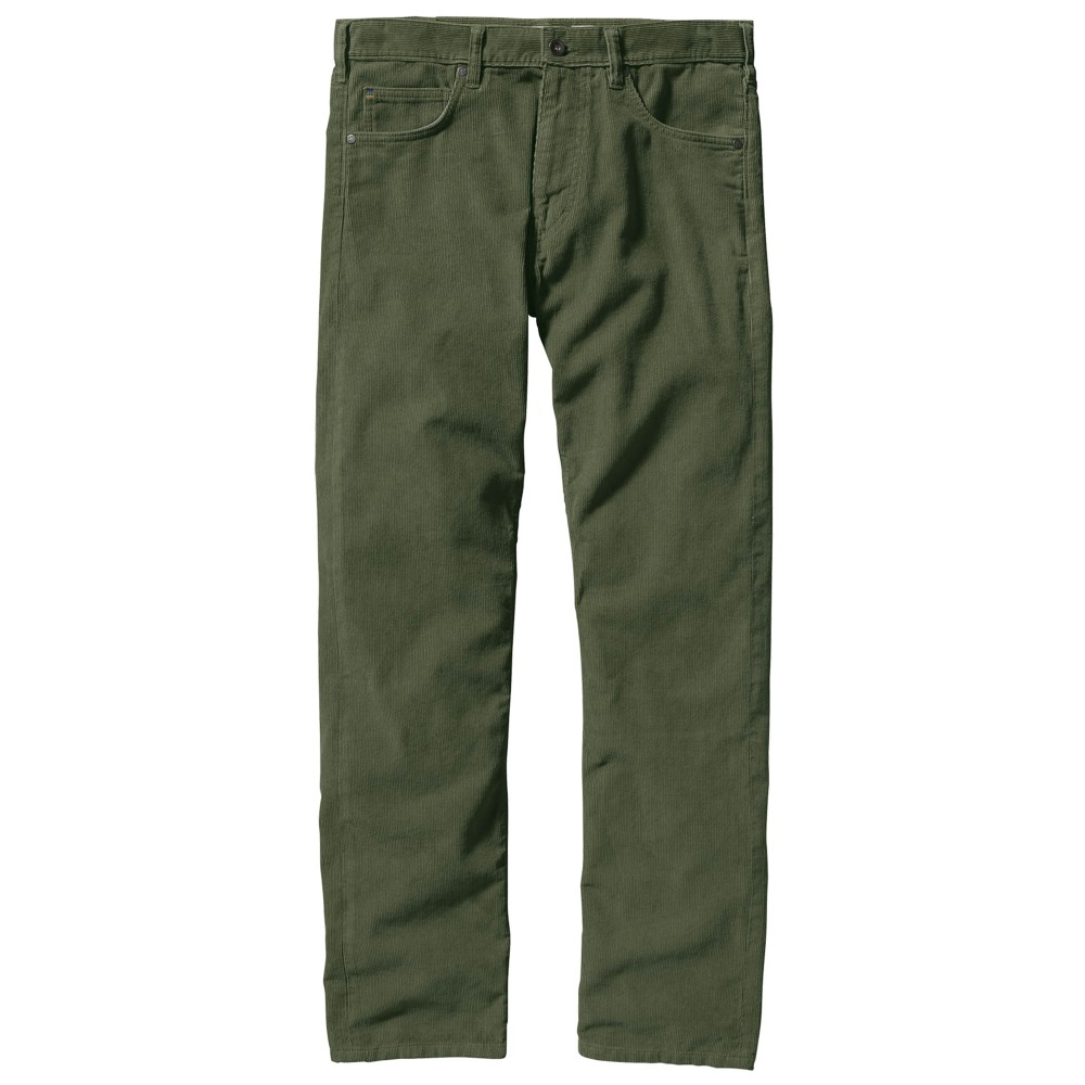 Patagonia Straight Fit Cord Reg Mens Industrial Green