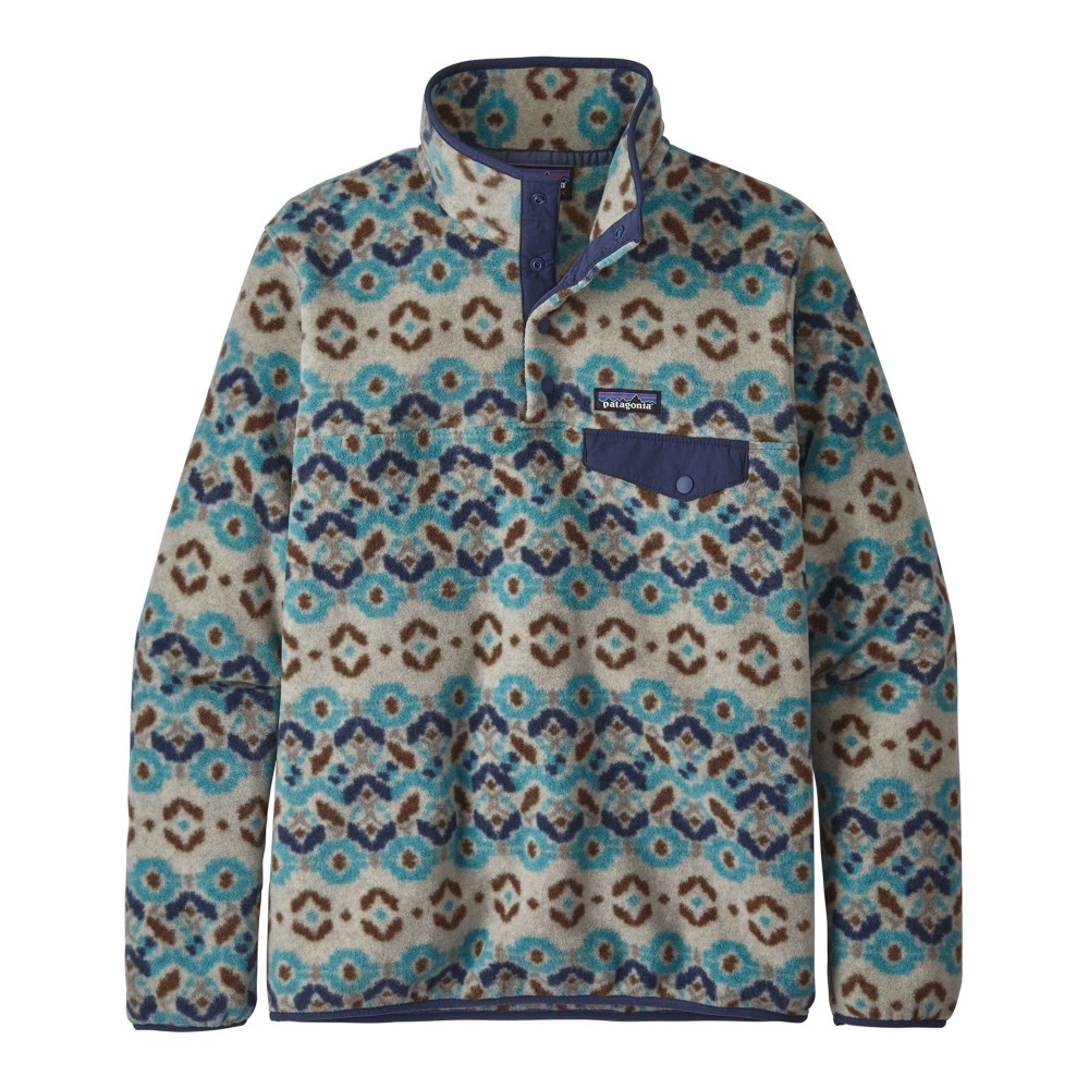 Patagonia LW Synchilla Snap-T Pullover Womens Tundra Cluster:Big Sky Blue