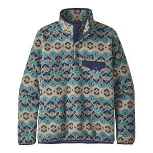 Patagonia LW Synchilla Snap-T Pullover Womens in Tundra Cluster:Big Sky Blue